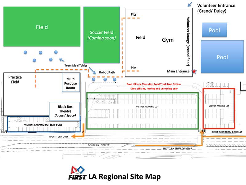 LA FIRST Regional Site Map